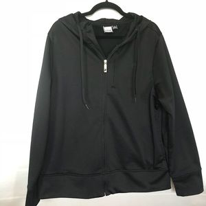 FILA Black Zip Hoodie Men's M, fits Women's L
